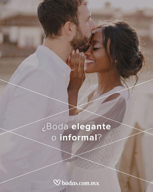 ¿Boda elegante o informal? - 1