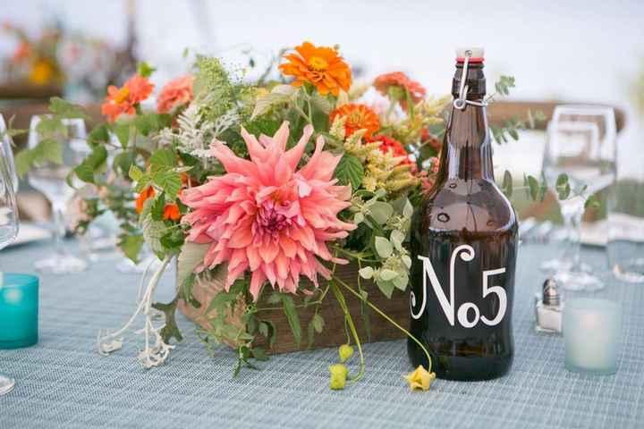 Ideas de centros de mesa para bodas rústicas - 1