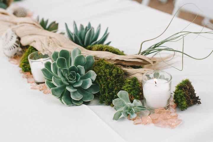 Ideas de centros de mesa para bodas rústicas - 11