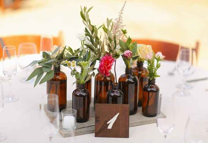 Ideas de centros de mesa para bodas rústicas - 12