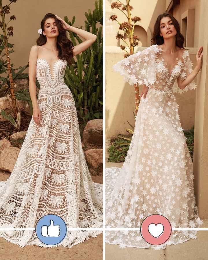 Batalla de vestidos con aplicaciones - 1