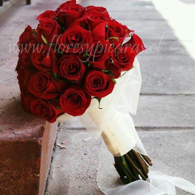 Ramo de novia rojo muy comn Foro Moda Nupcial bodascommx