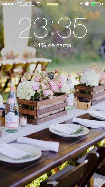 Centro de mesa rustico 1 fotos manualidades para bodas - Centro de mesa rustico ...