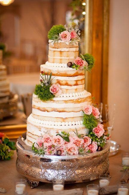 13 bonitos Naked Cakes para tu boda