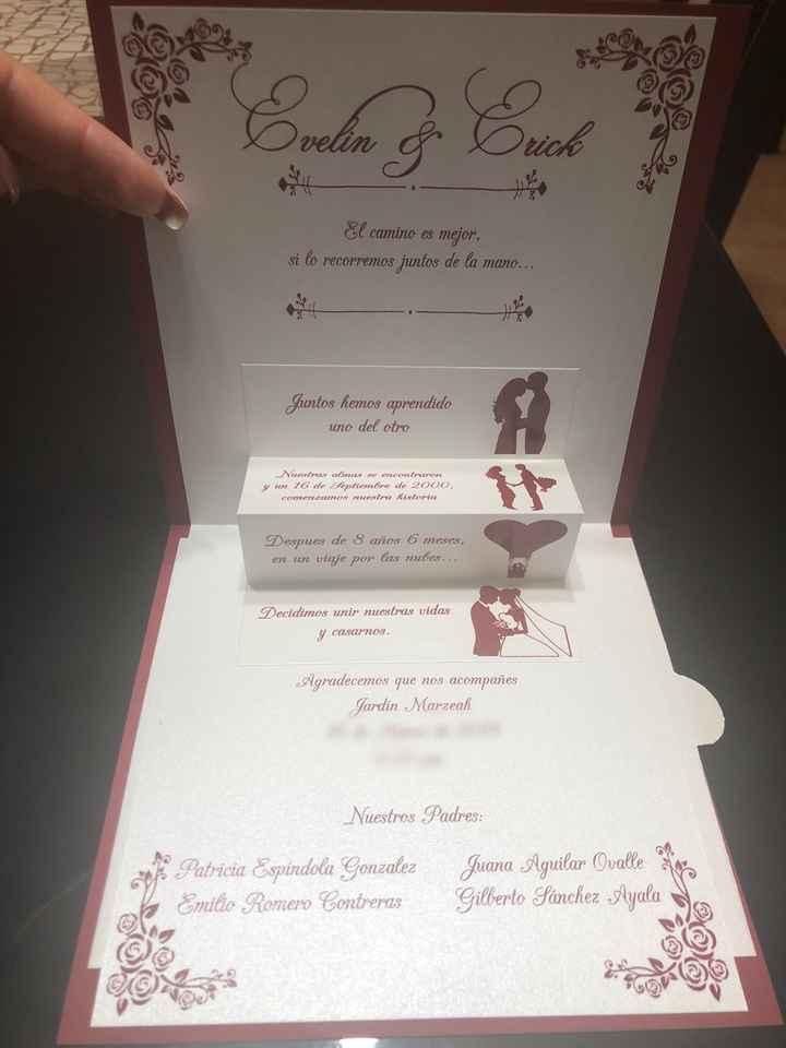 Invitaciones listas y entregadas!!! - 2