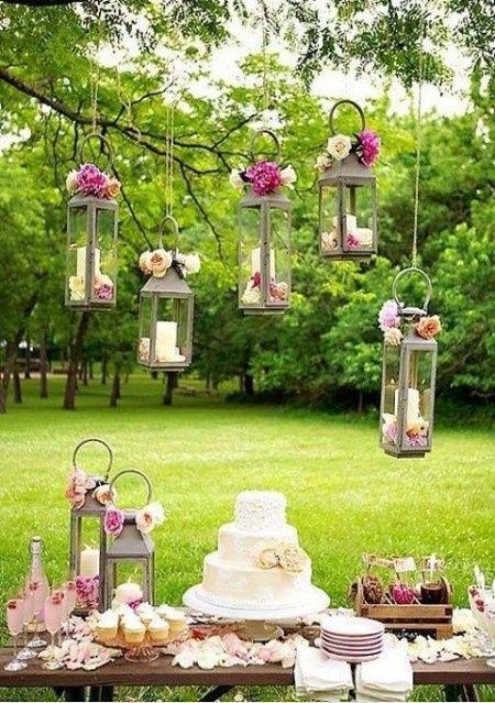 Decoraci n para jard n qu les parece foro organizar for Arreglos de mesa para boda en jardin