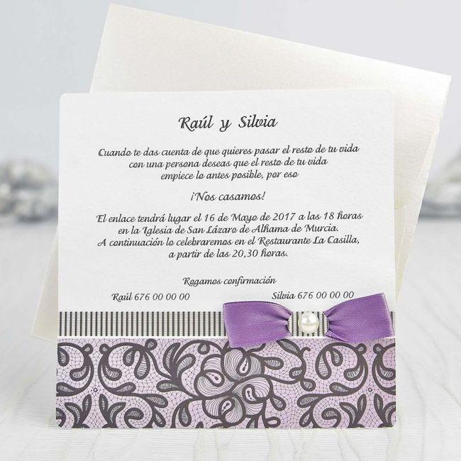 Invitaciones Moradas con Plata 9