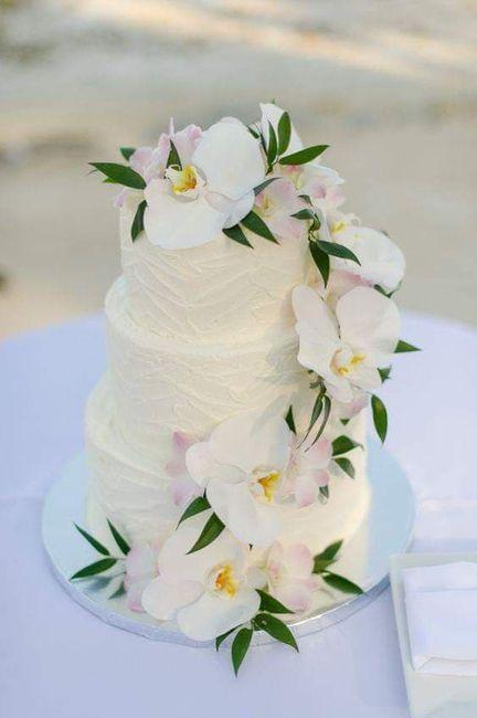 Temática de boda Tropical: Pastel y mesa de postres. 4