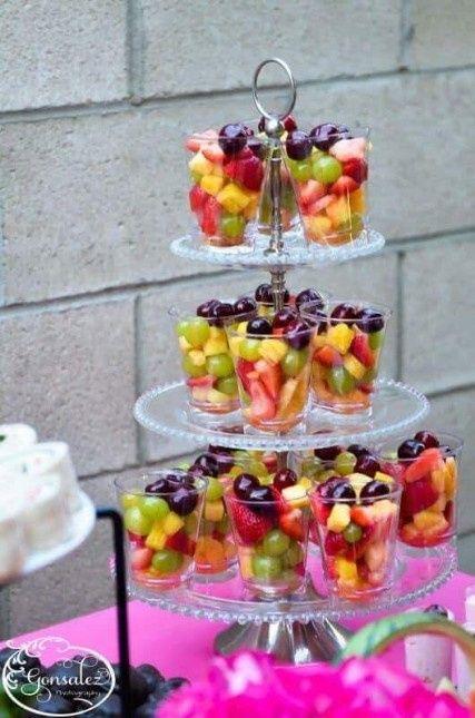 Temática de boda Tropical: Pastel y mesa de postres. 8