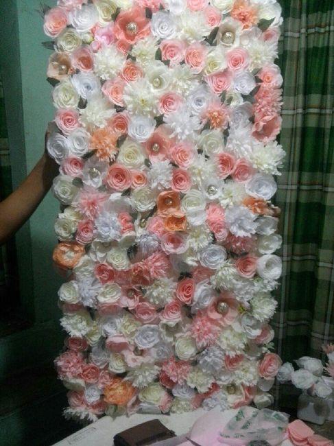 Cuadro De Flores Papel Crepe Foro Manualidades Para Bodas - Flores-de-papel-crepe
