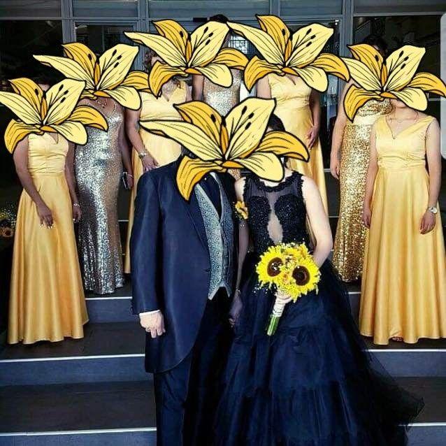 Vestido de novia negro 1