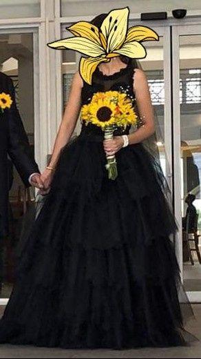 Vestido de novia negro 2