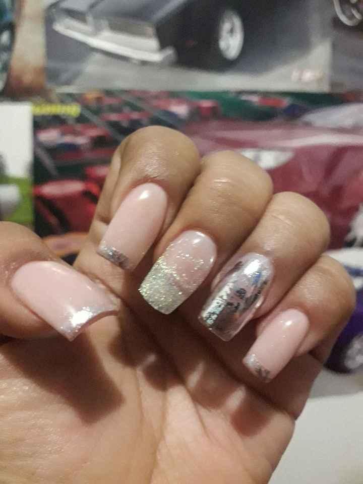 Mis uñas acrilicas 💅 a dos días de la Boda - 1