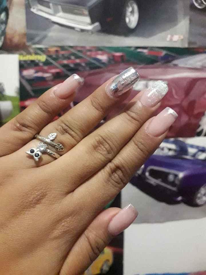 Mis uñas acrilicas 💅 a dos días de la Boda - 2