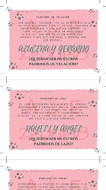 Tarjetas para padrinos!🎉 - Foro Manualidades para bodas - bodas.com.mx