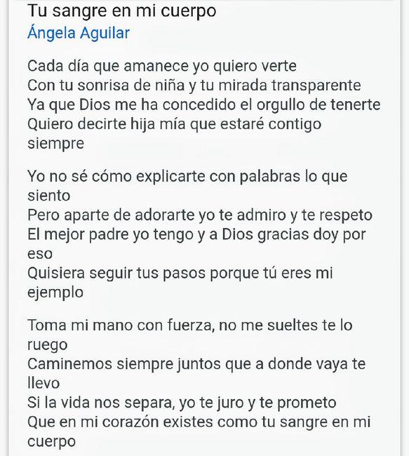 La Canción Con Papá Letra De Tu Sangre En Mi Cuerpo Foro