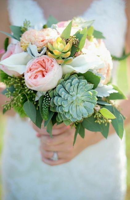 Ramos de novia con suculentas cact ceas y otras flores for Cactaceas y suculentas