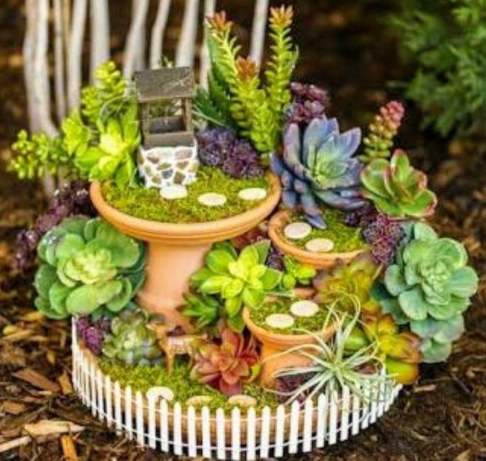 Centros de mesa rsticos con Jardines miniatura Foro Manualidades