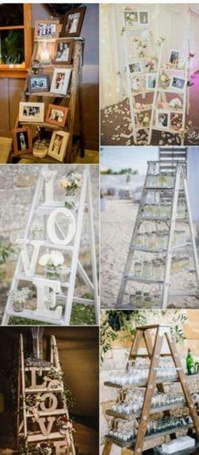 Escaleras de madera decoraci n boda vintage r stica o al for Escalera de madera al aire libre precio