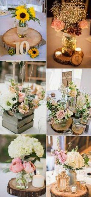 Decoración troncos de madera boda vintage o Rústica. Centros de mesa,base pastel y más. 8