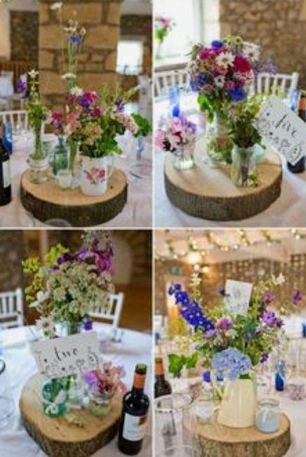 Decoración troncos de madera boda vintage o Rústica. Centros de mesa,base pastel y más. 9