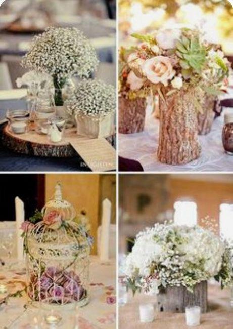 Decoración troncos de madera boda vintage o Rústica. Centros de mesa,base pastel y más. 16