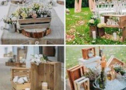 Decoración troncos de madera boda vintage o Rústica. Centros de mesa,base pastel y más. 17