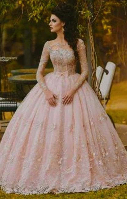 vestidos de novia en tono rosa. para gustos diferentes. - foro moda