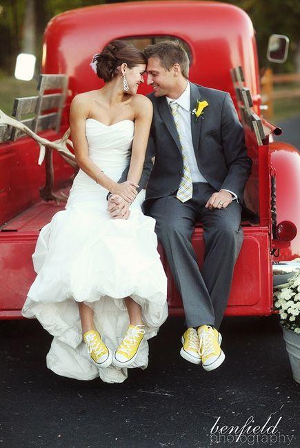 Vestidos de novia para usar con tenis