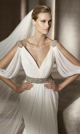 Tu vestido de novia con inspiración en diosas griegas 6