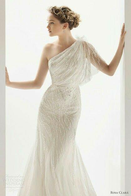 Tu vestido de novia con inspiración en diosas griegas 12