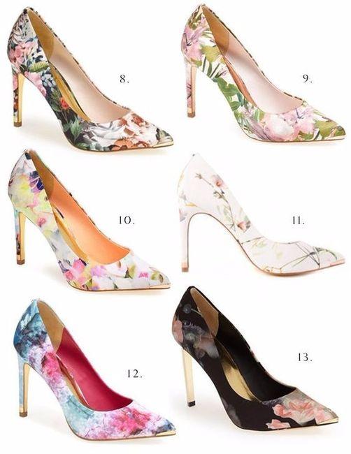 1b643a42b3 zapatos floreados para una novia amante de las flores  - Foro Moda ...