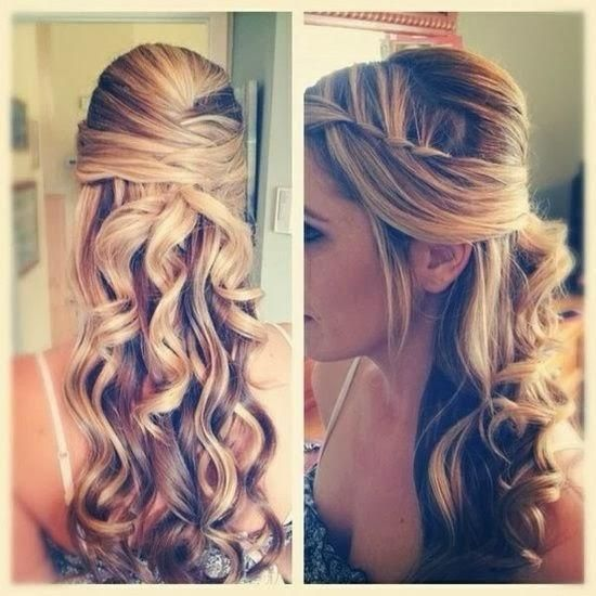Peinado semirecogido para boda civil