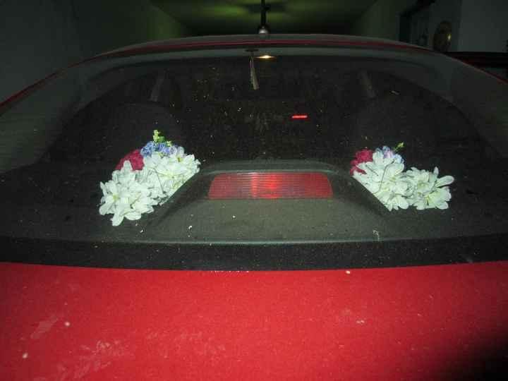 Arreglo floral (parte trasera)