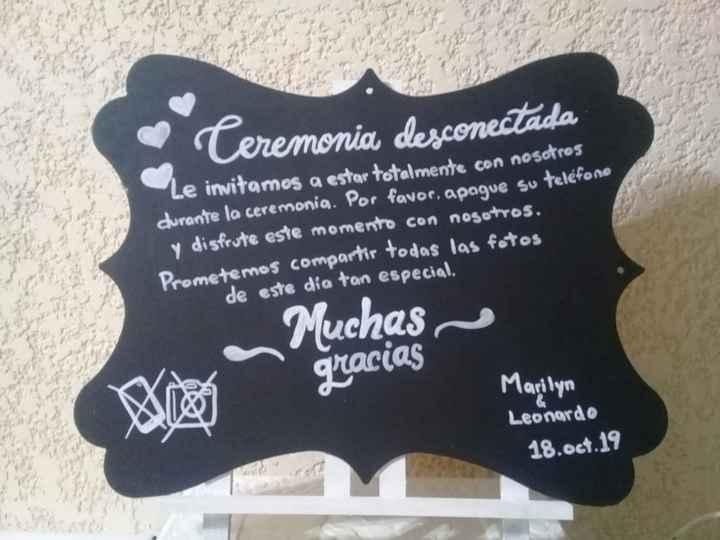 Mi letrero para la boda