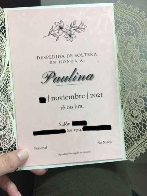 Invitaciones Despedida de Soltera - 2