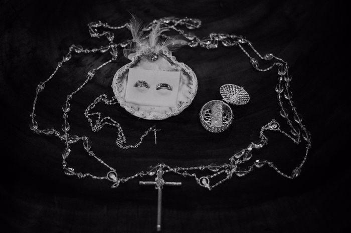 lazo, arras, rosario y anillos