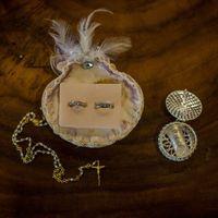 anillos, arras y rosario