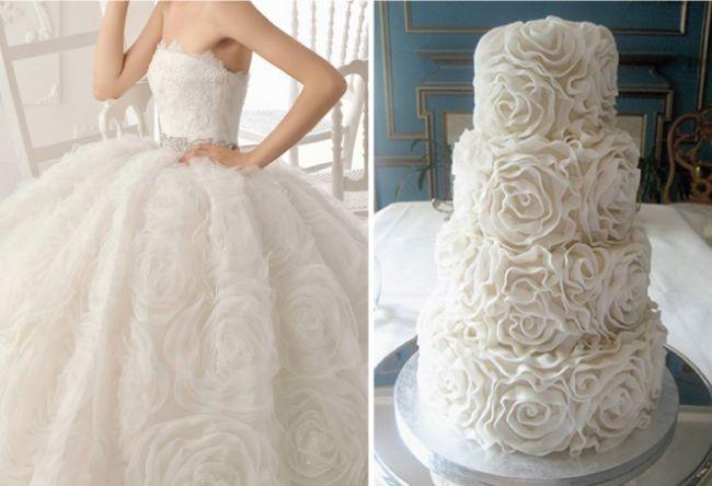 Vestidos de novia y pastel