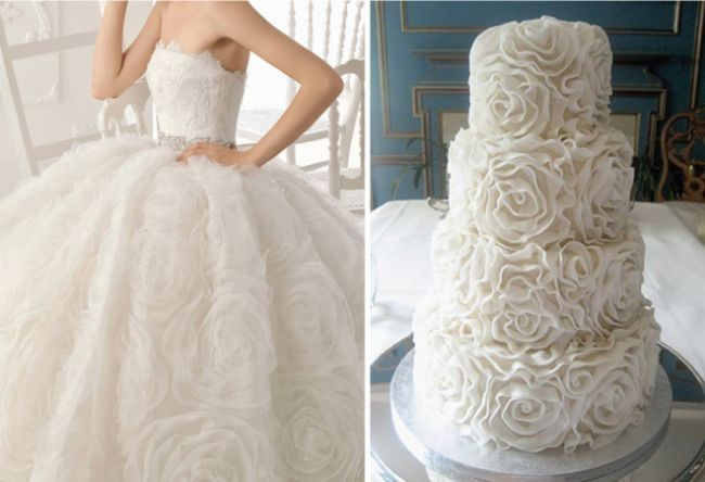 torta de boda inspirada en tu vestido