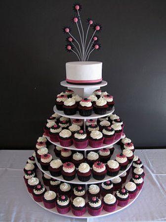pasteles de boda con cupcakes - foro banquetes - bodas.mx