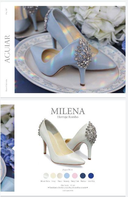 Zapato boda azul 💎 5