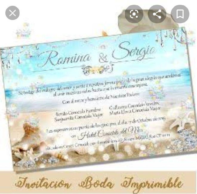 Ideas de invitaciones/ boda en la playa 56