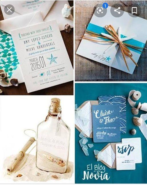 Ideas de invitaciones/ boda en la playa 57