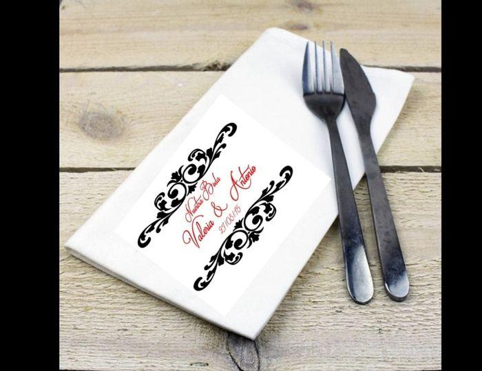 A 397 dias servilletas personalizadas dise o foro manualidades para bodas - Servilletas personalizadas ...