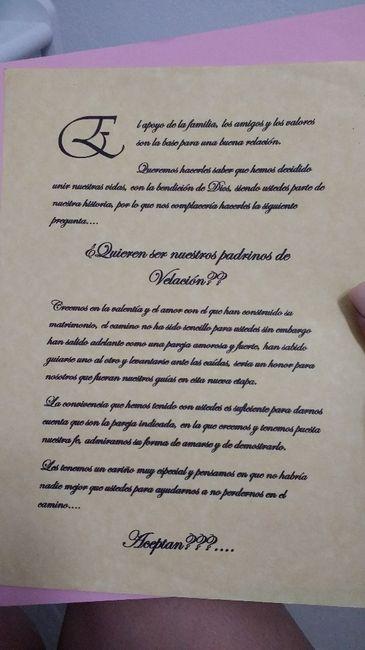 Carta Para Pedir Que Sean Mis Padrinos 2 Listas Foro