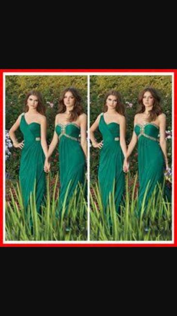 Vestidos de dama de honor color verde