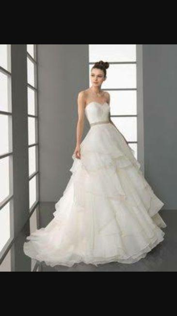 Vestido de novia con olanes