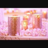 Octubre rosa. centros de mesa - 1