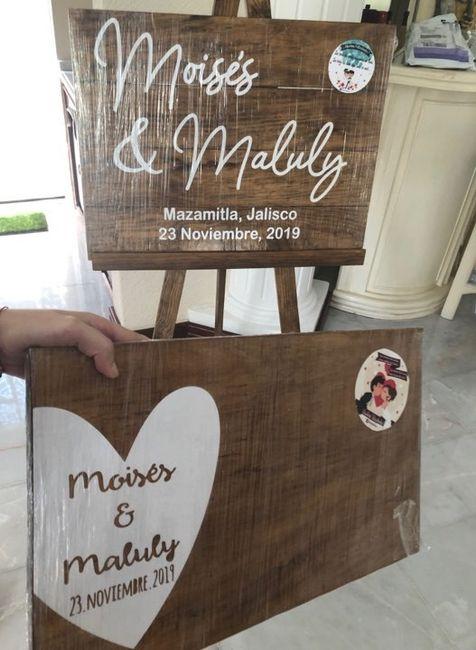 Letreros e invitaciones para boda civil, listos!! 4